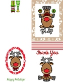 Christmas Thank You Card (Reindeer)