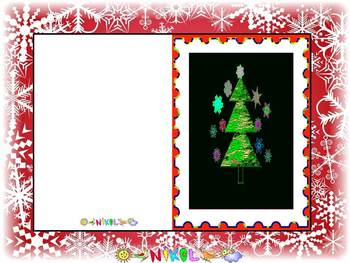 Christmas Activities - Christmas - Christmas Thank You Cards - Clipart