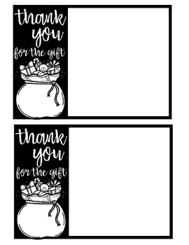 Christmas Thank You Cards Editable By Teaching With Crayons And Curls