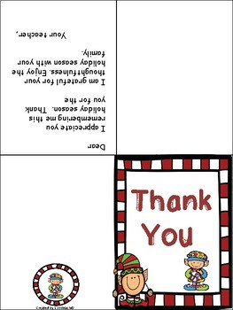 Christmas Thank You Cards & Gift Tags
