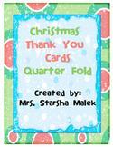 Christmas Thank You Cards-Quarter Fold