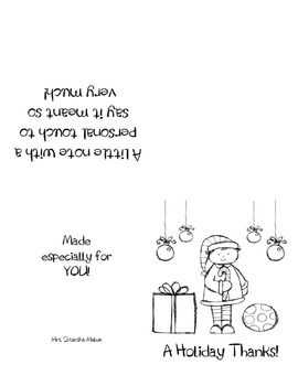Christmas Thank You Cards Quarter Fold By Starsha Malek Tpt