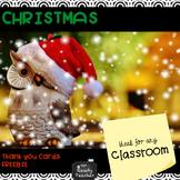 FREEBIE Christmas Thank You Cards