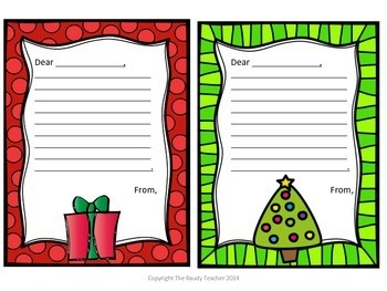 FREEBIE Christmas Thank You Cards
