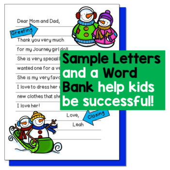 New Years 2018 Activities - Christmas Thank You Letters