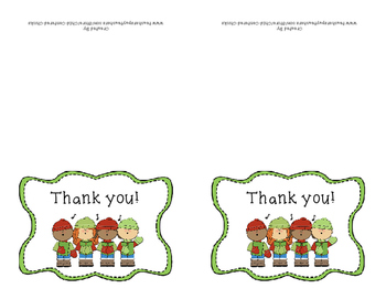 Christmas Thank You Note Cards
