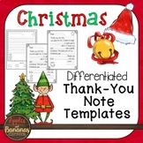 Christmas Thank You Note Templates