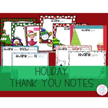 Christmas Thank You Notes: Editable or Pre Made
