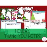 Editable Christmas Thank you Notes