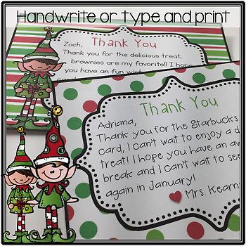 Christmas Thank You Notes {Editable}