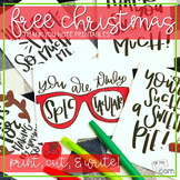 Christmas Thank You Notes FREE