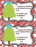 Christmas Thank You Notes **FREEBIE**
