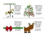 Christmas Thank You Notes and Bookmarks
