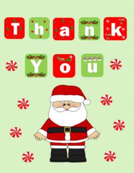 Christmas Thank You Quarter-fold Card