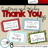 Christmas Thank You Tags for Volunteers