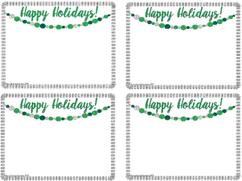 Christmas Thank You and Holiday Notes- {Editable}