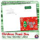 Christmas Thank you Notes - Foldable Full page - Fill-in-the-Blank and Blank