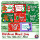 Christmas Thank you Notes - Foldable Full page - Fill-in-t
