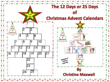 Christmas The 12 Days or 25 Days of Advent Calendars
