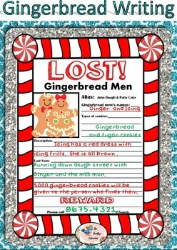 Gingerbread Writing Prompts, Posters, and Graphic Organizers