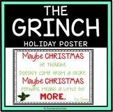 "Christmas ""The Grinch"" Movie Quote Poster"