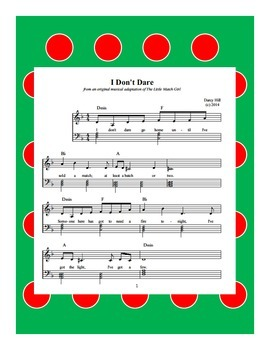 Christmas The Little Match Girl Sheet Music