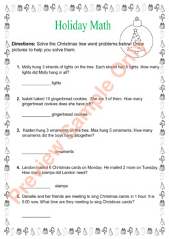 Christmas Thematic Unit (Primary) for Very Busy Teachers - US English