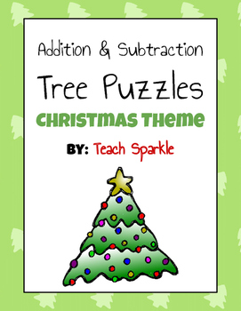 Christmas Theme Addition and Subtraction Tree Puzzles