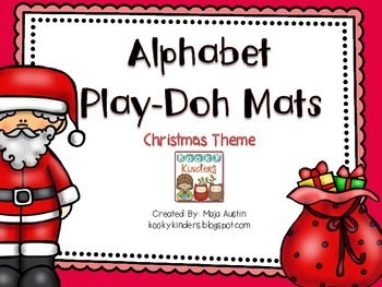 Christmas Theme-Alphabet Play-Doh Mats