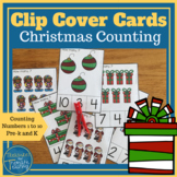 Christmas Theme Clip or Cover Cards, Pegging Cards