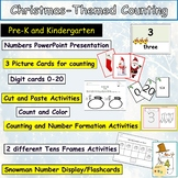 Christmas Themed Counting 0-20 Presentation, Flashcards Worksheets/Activities