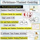 Christmas Theme Counting 0-20 Presentation, Flashcards Wor