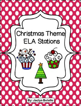 Christmas Theme ELA Stations