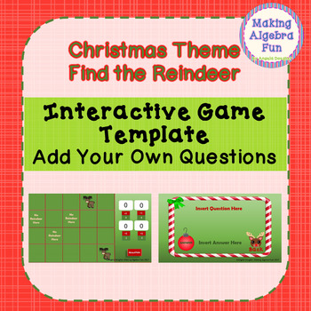 Christmas Theme Find the Reindeer Game Editable Template Add Your Content