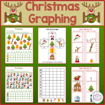 Christmas Theme Graphing - How Tall Am I - Roll & Graph