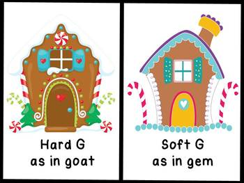 Phonics Hard and Soft G - Teaching Resource, Literacy Center for Christmas