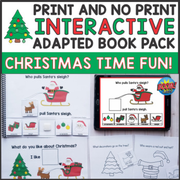 Christmas Theme Interactive Books and Activities Bundle