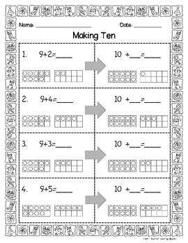 Christmas Theme Math Addition Sheets