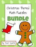 Christmas Theme Math Puzzles Bundle