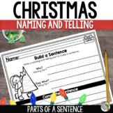 Christmas Activities - Naming and Telling Parts/Subject an