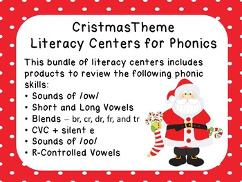 Christmas Theme Phonics Literacy Centers