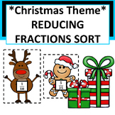 Christmas Theme Reducing Fractions Sort