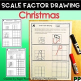 Christmas Theme Scale Factor Drawing, 8 pgs, teacher notes