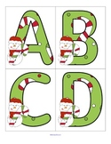 Christmas Alphabet Flashcards Upper and Lower Case - FREE