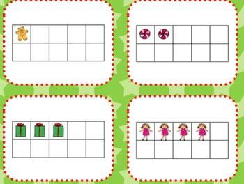 Christmas Theme Tens Frame Center
