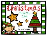 Christmas Theme Thank You Cards