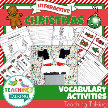 Christmas Vocabulary Activities and Craftivity