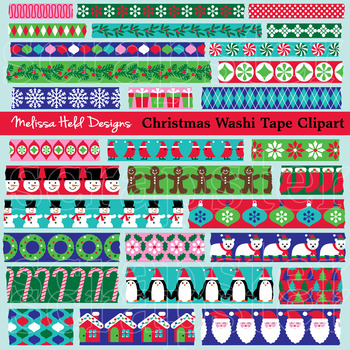 Christmas Theme Washi Tape Clipart