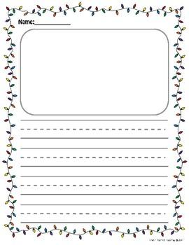 Christmas Theme Writing Center Paper