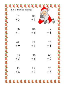 Christmas Themed Math  -Addition and Subtraction With and Without Regrouping